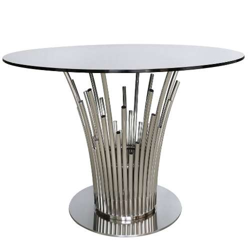 Lorenzo silver dining table donna kristian interiors - Silver dining tables ...